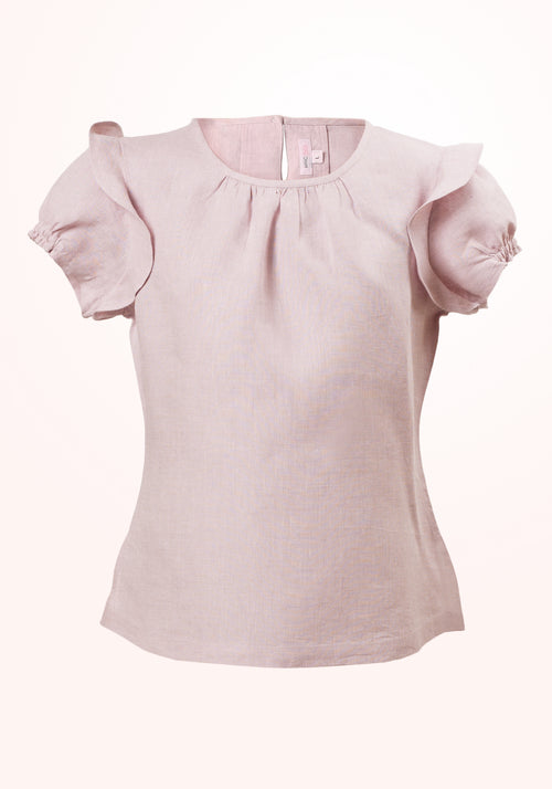 Primrose Girls Top with Ruffle Trim Sleeve