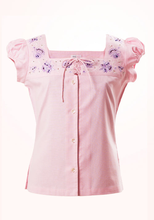 Candy Girls Top In Pink Cotton