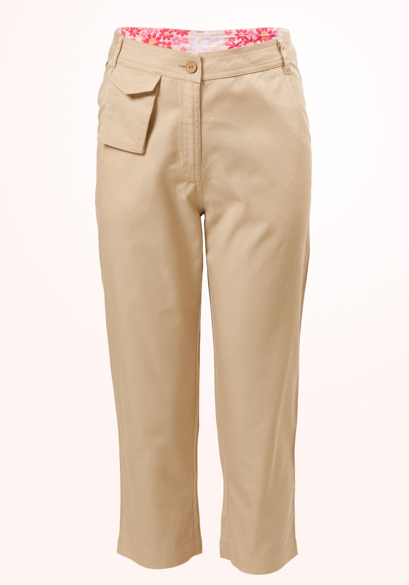 Winter Wheat Girls Trousers in Beige Cotton Twill - MINC ecofashion