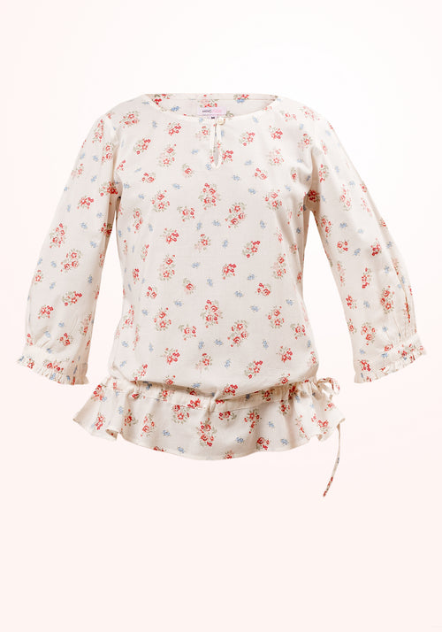 Picnic Girls Top in Printed Cotton