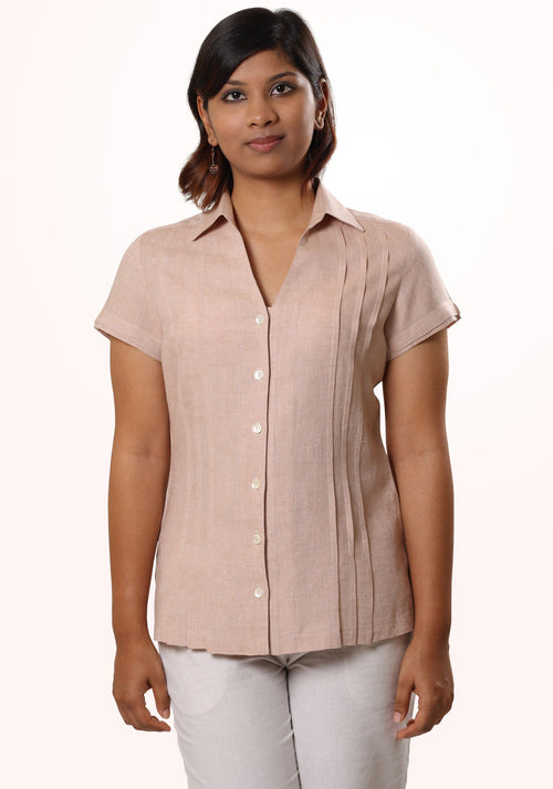 Pleated Linen Shirt