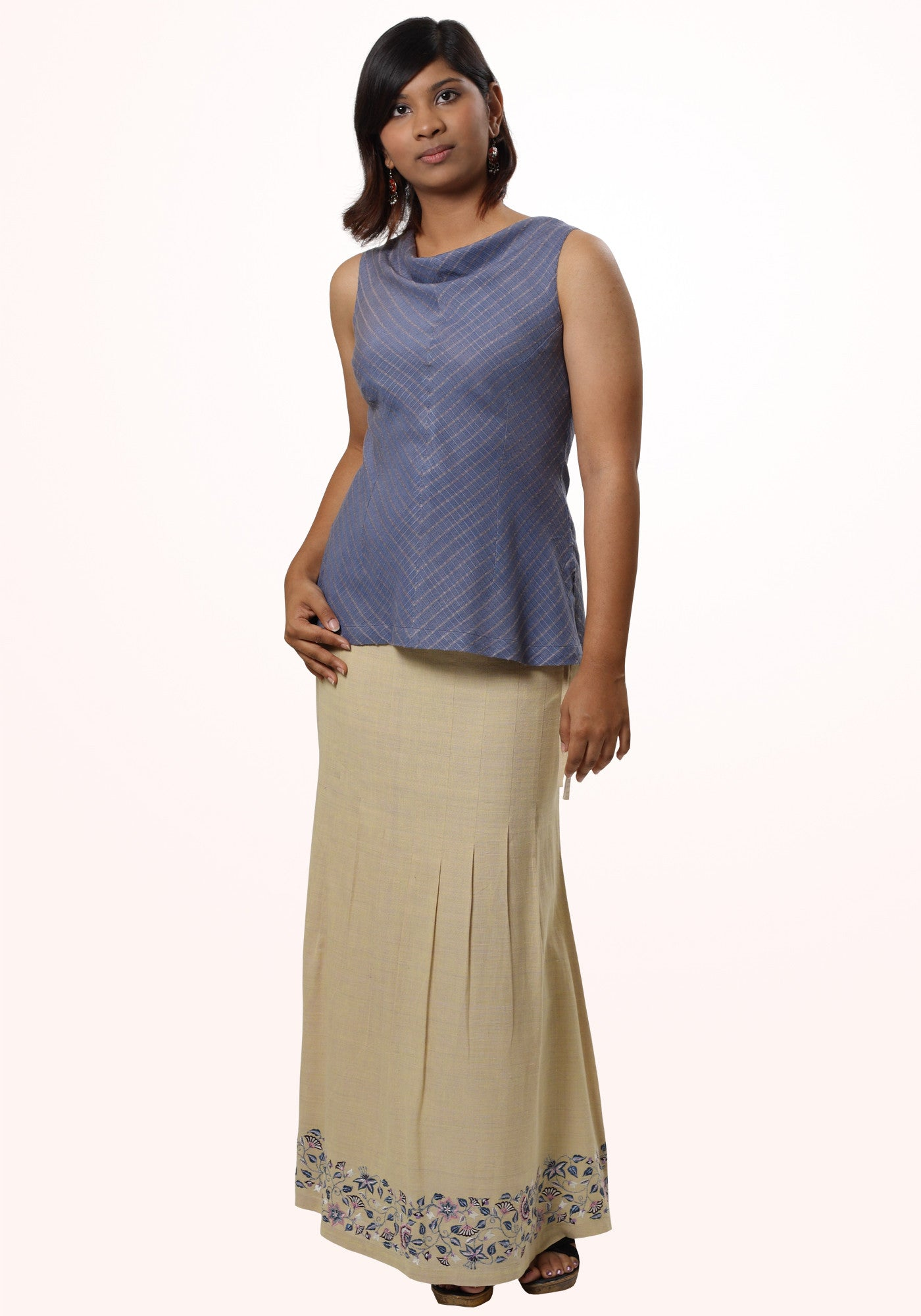 Ahimsa silk handwoven short top - MINC ecofashion