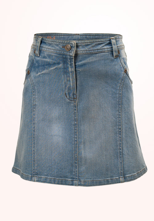 Texas Girls Skirt in Blue Denim