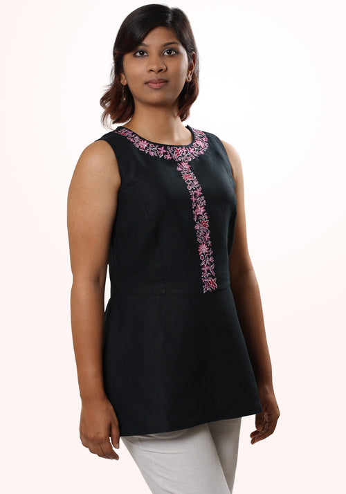 Embroidered Sleeveless Tunic