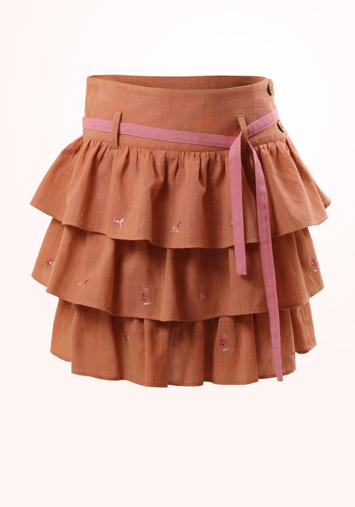 Cinnamon Girls Skirt in Cotton Khadi