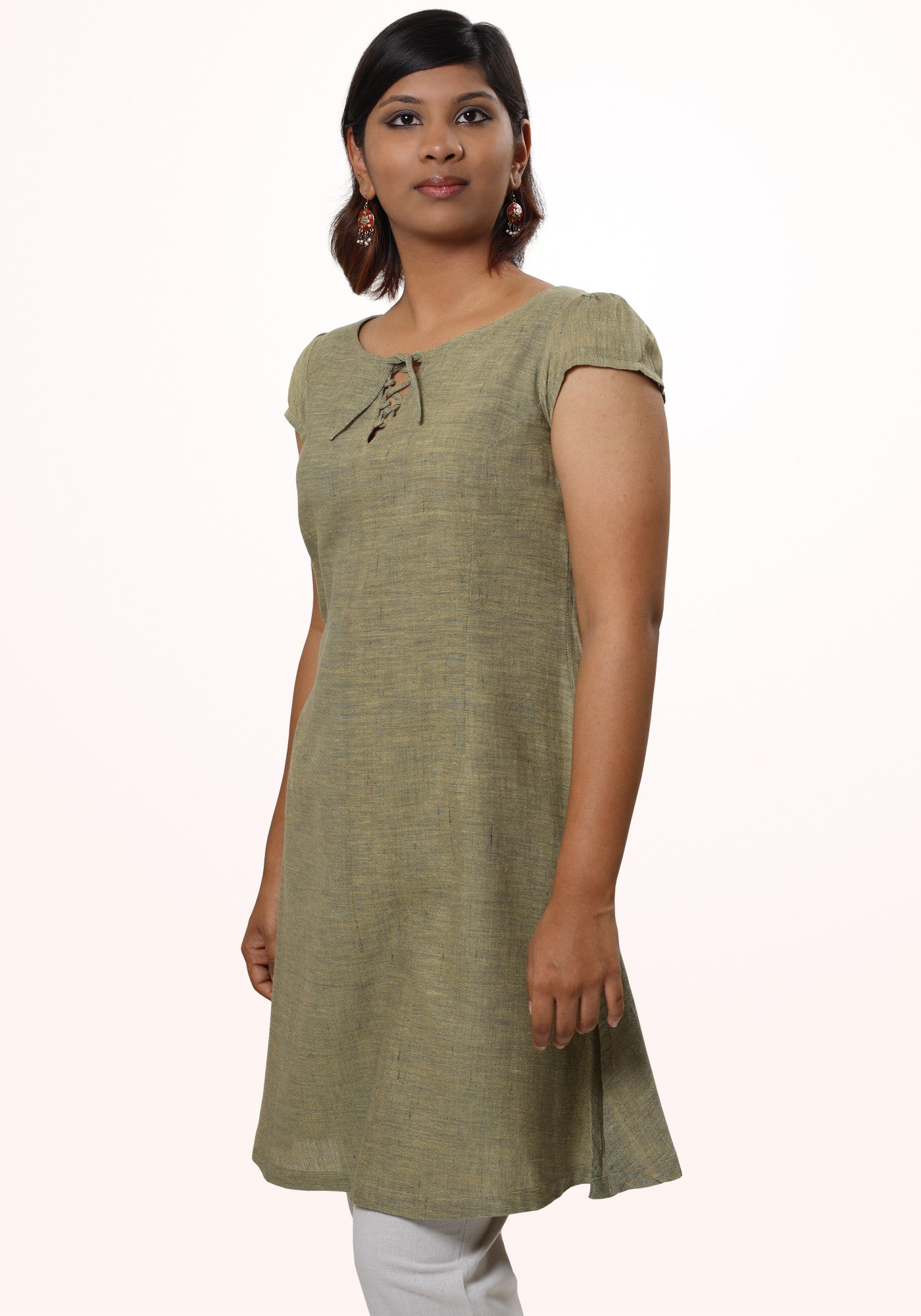 V Neck Long Tunic - MINC ecofashion