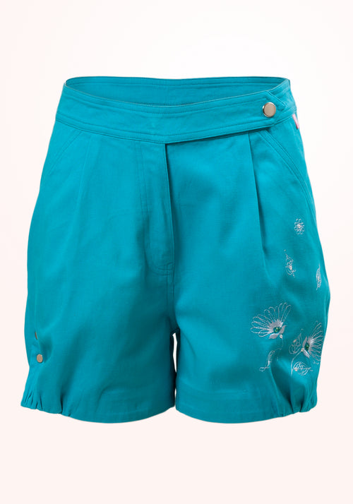 Blue Lagoon Girls Shorts in Cotton Twill