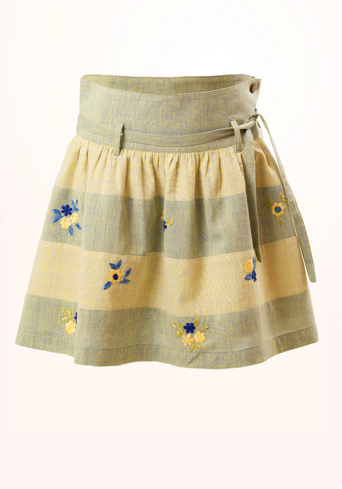 Jade Girls Skirt in Cotton Khadi