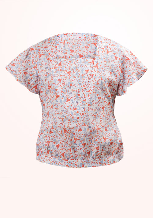 Sprinkles Inset Yoke Girls Top in Printed Cotton
