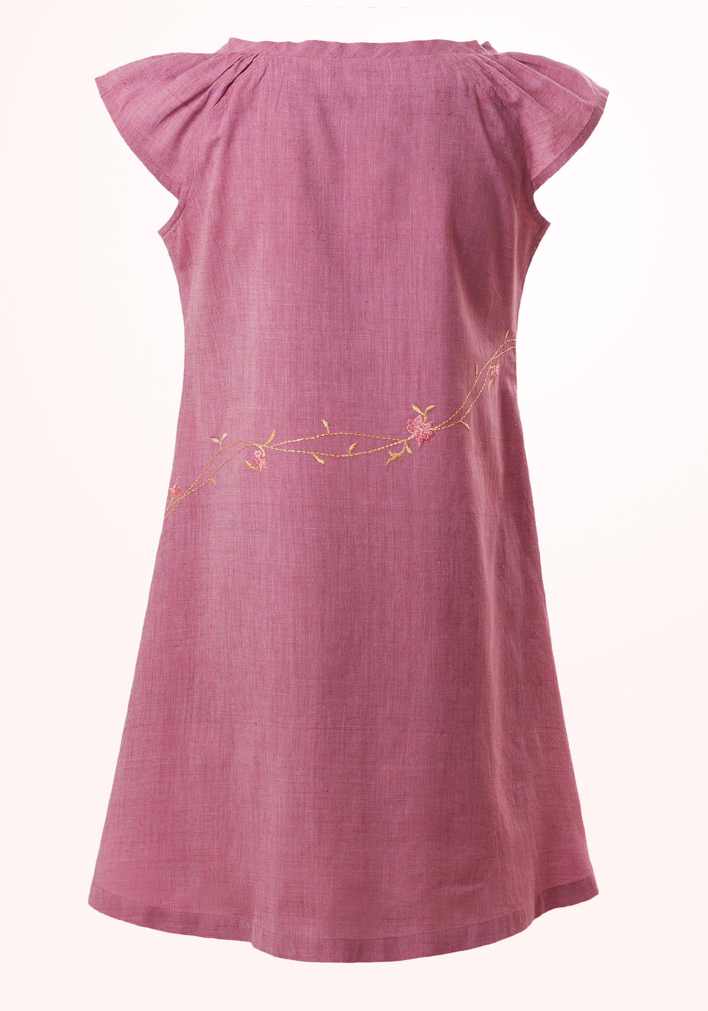 Mauve Magic Girls Short Dress in Purple Cotton Khadi - MINC ecofashion