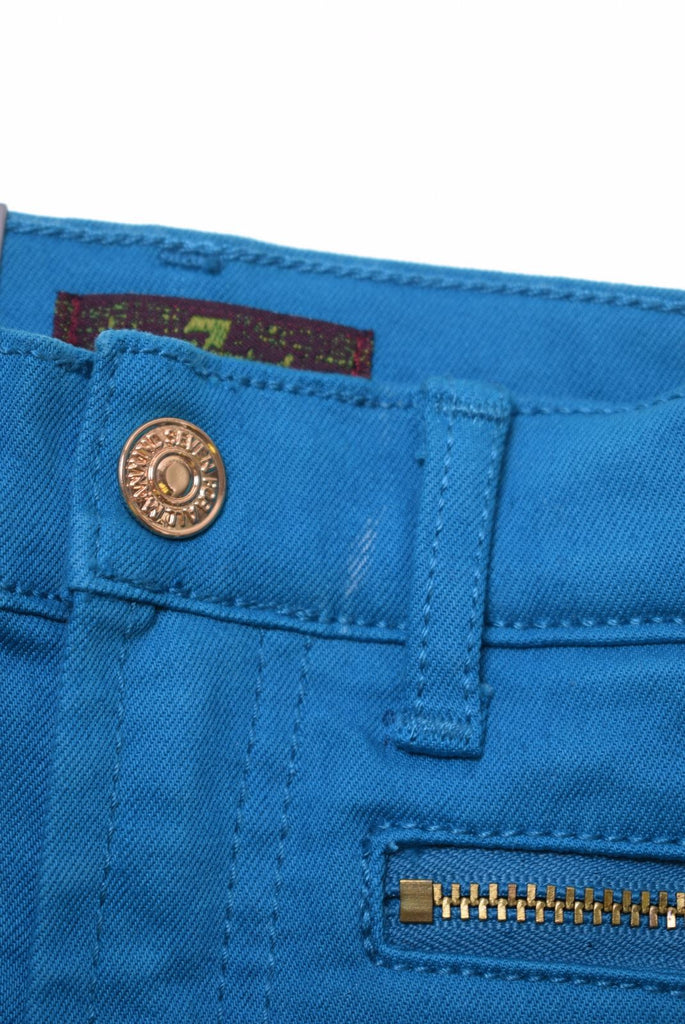 7 FOR ALL MANKIND Girls Jeans 18-24 Months W18 L12 Blue Cotton Skinny - Second Hand & Vintage Designer Clothing - Messina Hembry