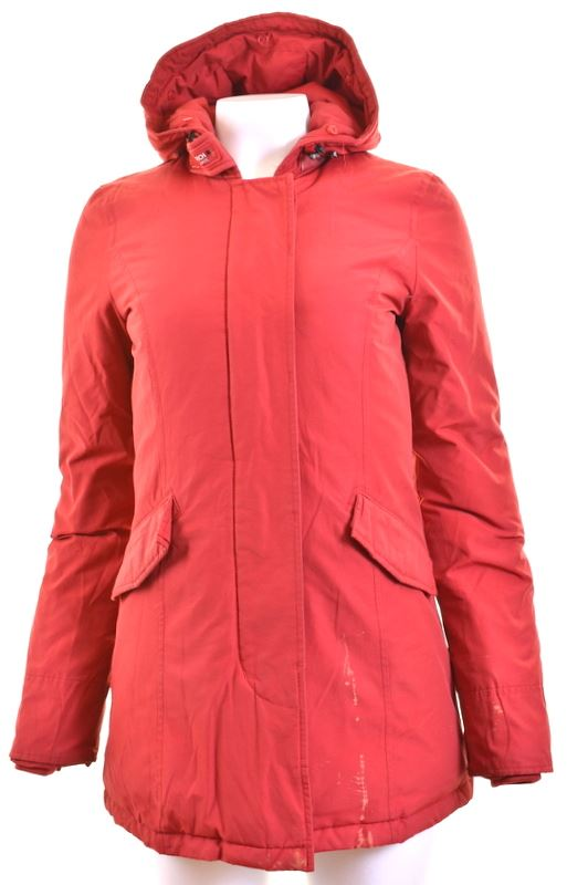 WOOLRICH Womens Padded Jacket Size 6 XS Red - Second Hand & Vintage Designer Clothing - Messina Hembry