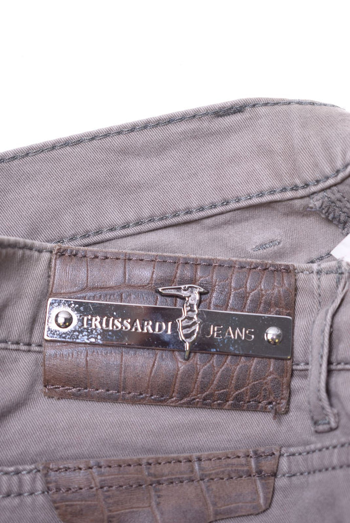 TRUSSARDI Womens Jeans W26 L26 Brown Cotton Super-skinny - Second Hand & Vintage Designer Clothing - Messina Hembry