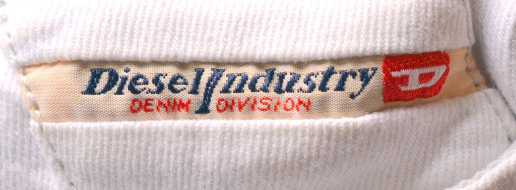 DIESEL Womens Jeans W31 L26 White Cotton Straight Stretch Liv - Second Hand & Vintage Designer Clothing - Messina Hembry