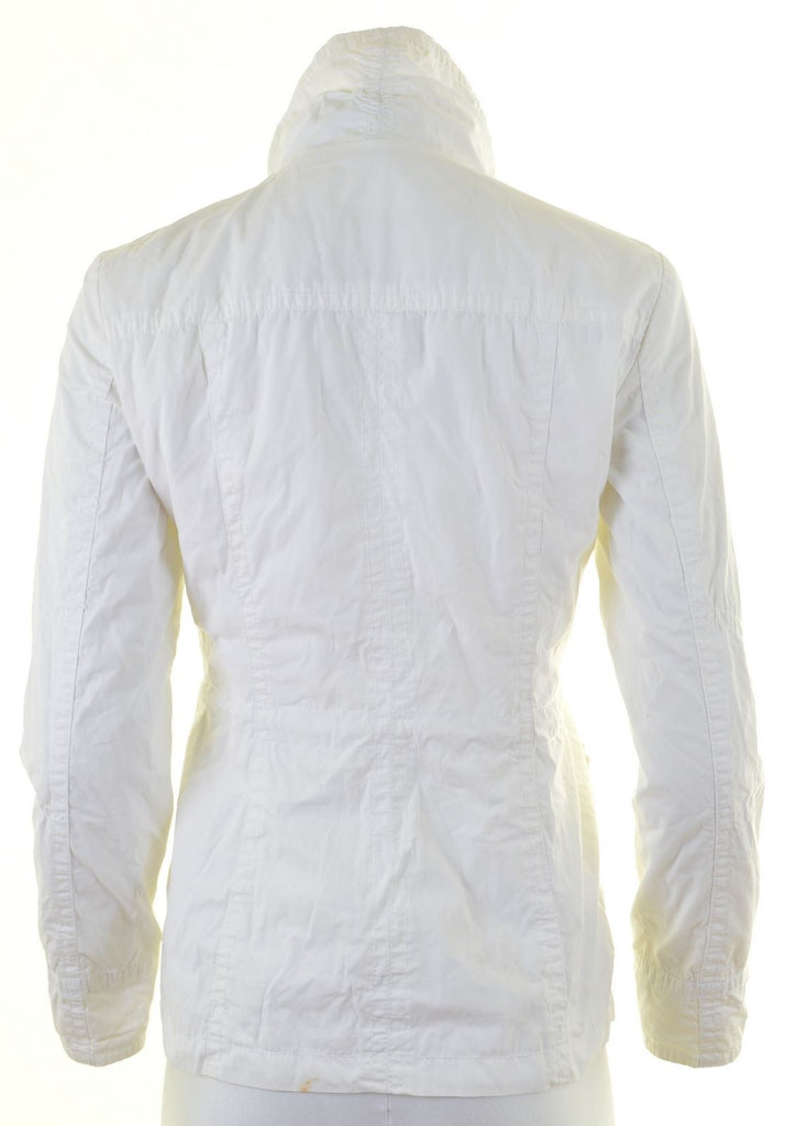 ESPRIT Womens Over Jacket UK 8 Small White Cotton - Second Hand & Vintage Designer Clothing - Messina Hembry