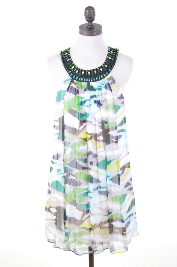 BCBG MAXAZRIA Womens Dress Size 6 XS Multi Silk - Second Hand & Vintage Designer Clothing - Messina Hembry