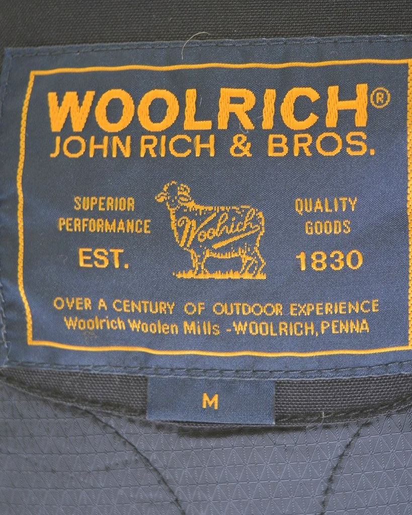 WOOLRICH Womens Windbreaker Jacket Size 12 Medium Black Nylon - Second Hand & Vintage Designer Clothing - Messina Hembry
