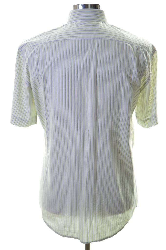 Pierre Cardin Mens Shirt Size 42 Large Multi Stripes - Second Hand & Vintage Designer Clothing - Messina Hembry