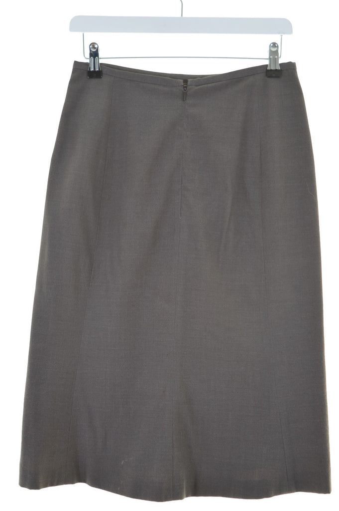 JIGSAW Womens Straight Skirt Size 10 Small W26 L26 Brown - Second Hand & Vintage Designer Clothing - Messina Hembry