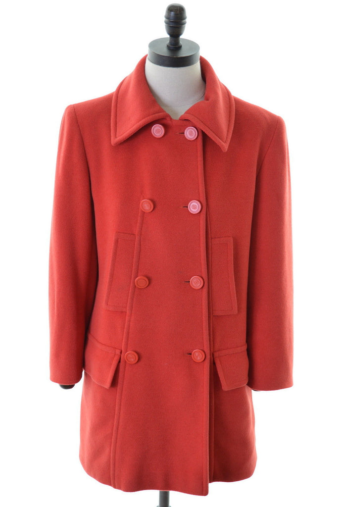ELECTRE Womens Peacoat Size 16 Large Red - Second Hand & Vintage Designer Clothing - Messina Hembry