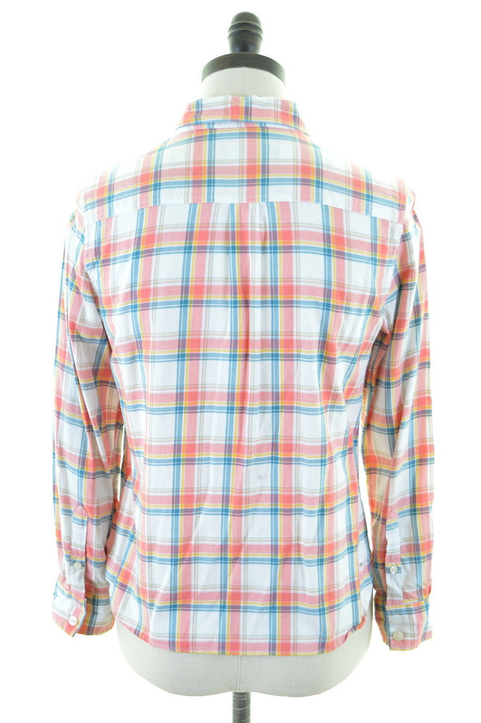 JACK WILLS Womens Flanel Shirt Size 10 Small Multi Madras Cotton - Second Hand & Vintage Designer Clothing - Messina Hembry