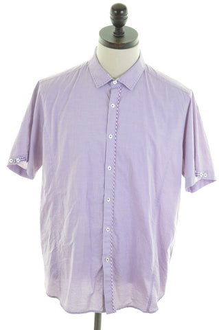 TED BAKER Mens Shirt Large Purple Cotton