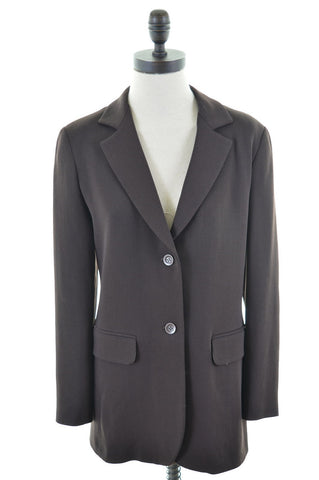 JIGSAW Womens 2 Button Blazer Jacket Size 10 Small Brown Wool