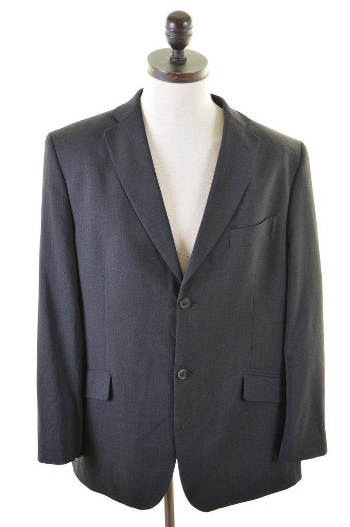 TED BAKER Mens 2 Button Blazer Jacket Size 42 Large Black Wool - Second Hand & Vintage Designer Clothing - Messina Hembry