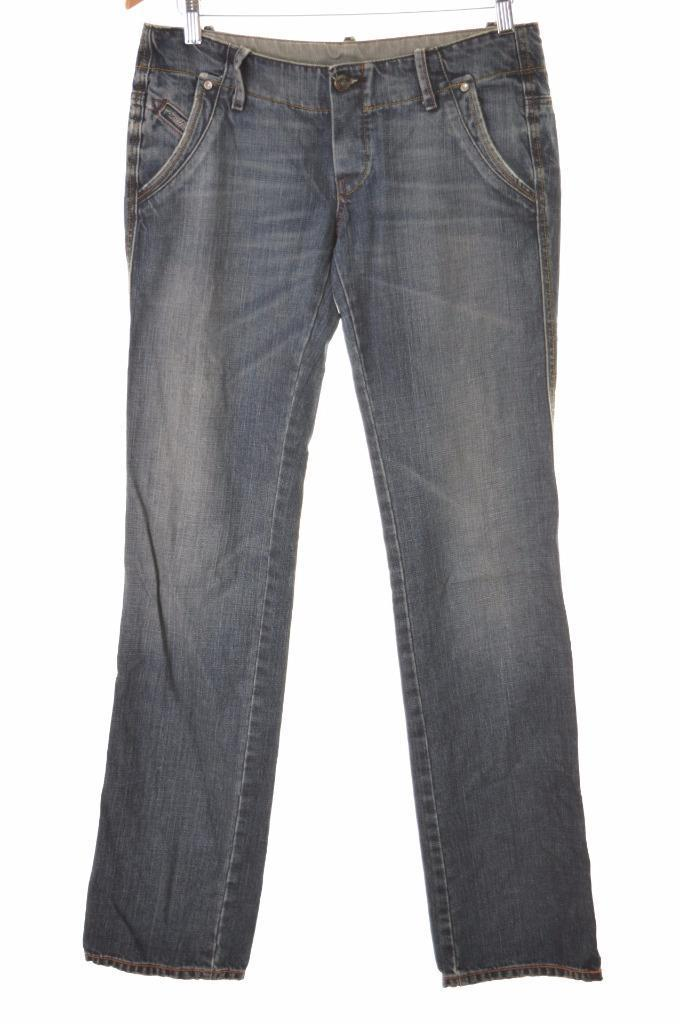 Diesel Womens Jeans W29 L34 Blue Cotton Straight - Second Hand & Vintage Designer Clothing - Messina Hembry