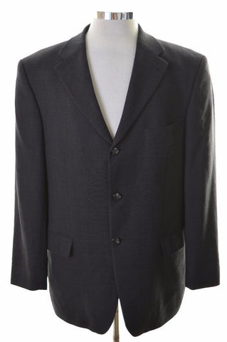 Tommy Hilfiger Mens Blazer Jacket Size 40 Medium Black Wool Viscose
