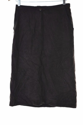 Trussardi Womens Skirt W28 Size 42 Brown Viscose Polyester