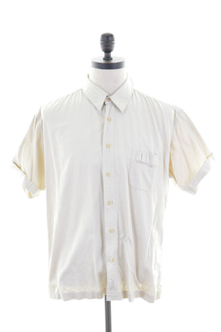 TED BAKER Mens Shirt Large Beige Cotton