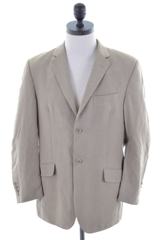 Daniel Hechter Mens Blazer Jacket Size 40 Medium Beige Viscose Two Button