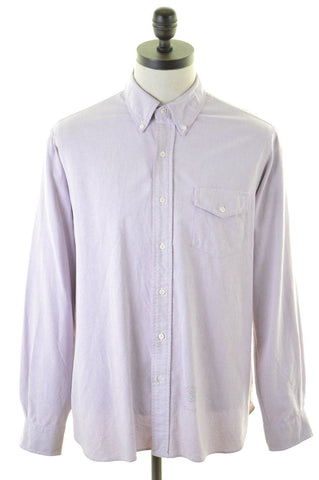 RALPH LAUREN Mens Shirt Large Purple Cotton