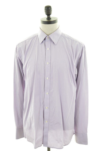 TED BAKER Mens Shirt XL Purple Cotton