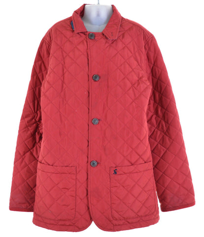 JOULES Girls Quilted Jacket Size 12 Large Red Nylon