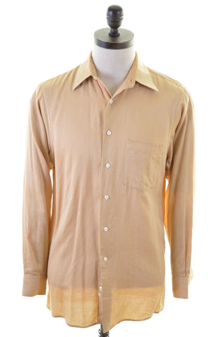 DKNY Mens Shirt Small Brown Cotton