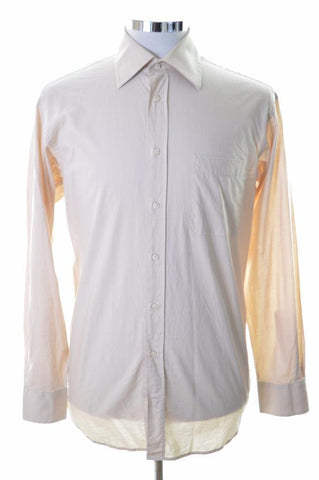 Daniel Hechter Mens Shirt Size 39 Large Beige Cotton