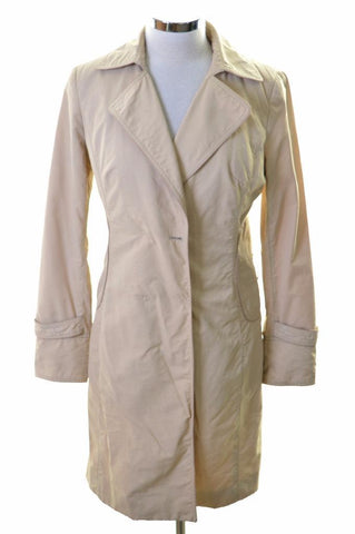Jigsaw Womens Coat Size 8 Small Beige Cotton Nylon