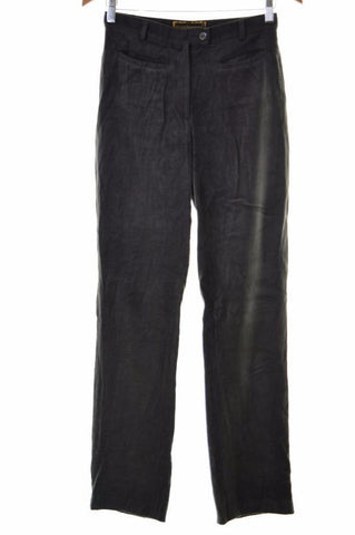 Roccobarocco Womens Trousers W28 L32 Grey Viscose Polyester Lycra Straight