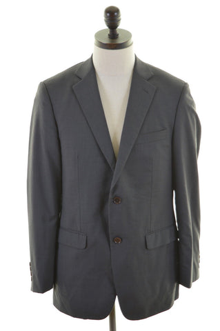 DKNY Mens 2 Button Blazer Jacket Size 40 Medium Grey Stripes Wool