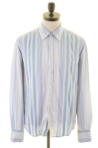TED BAKER Mens Shirt Medium Blue White Stripes