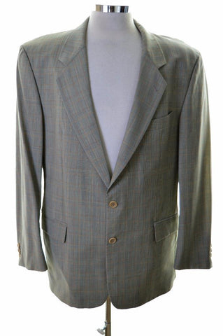 Hugo Boss Mens Blazer Jacket Size 42 Large Multi New Wool Viscose