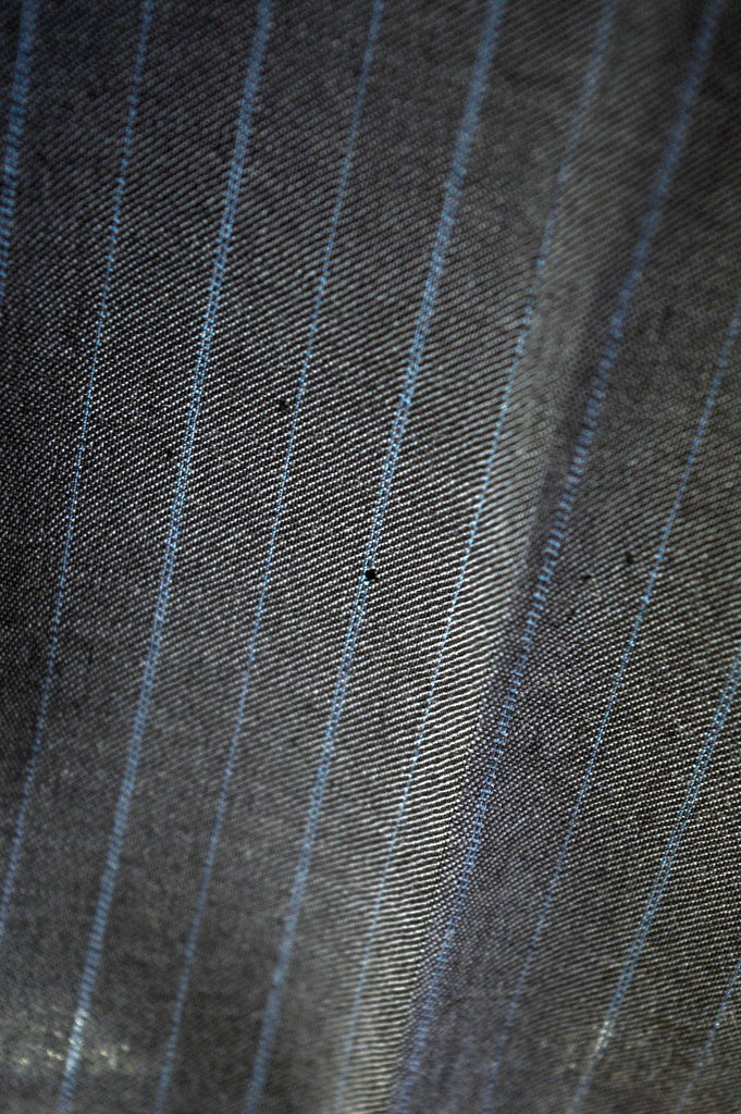 TED BAKER Mens 3 Button Two Piece Suit Size 40 Medium W34 L36 Dark Grey Stripe - Second Hand & Vintage Designer Clothing - Messina Hembry