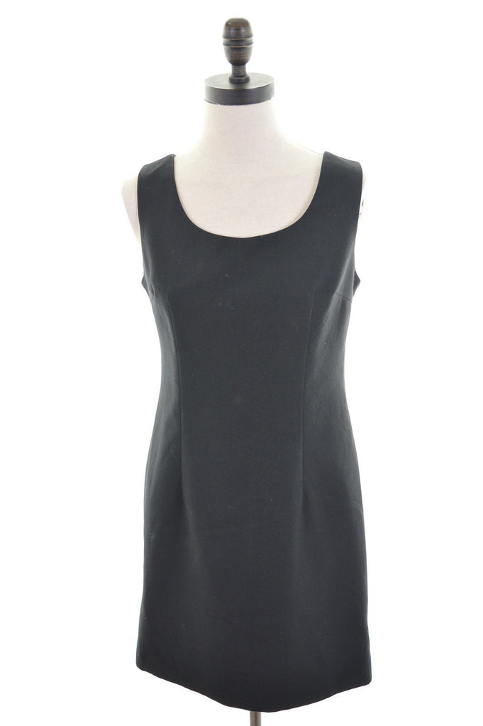 SPORTSTAFF Womens Sheath Dress Size 10 Small Black Polyester - Second Hand & Vintage Designer Clothing - Messina Hembry