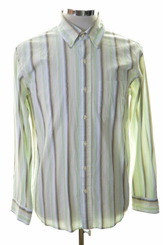 Gap Mens Shirt Medium Multi Stripes Classic Fit