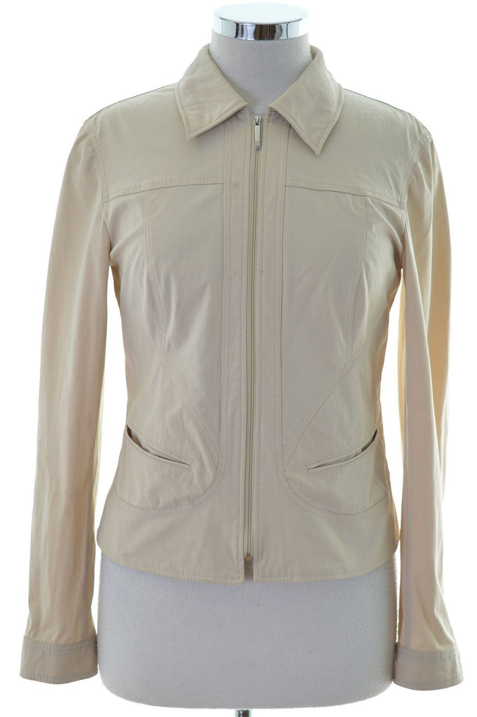 Betty Barclay Womens Harrington Jacket Size 10 Small Beige - Second Hand & Vintage Designer Clothing - Messina Hembry