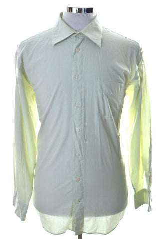 Daniel Hechter Mens Shirt Size 44 XL Green Cotton