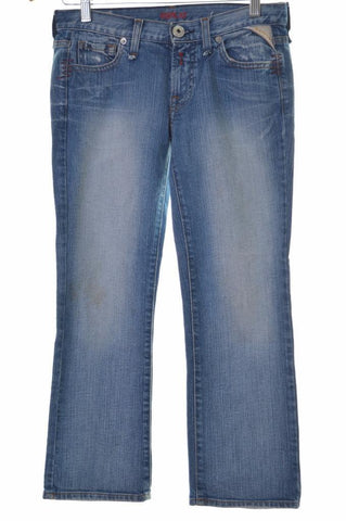 Replay Womens Jeans Capri W26 L23 Blue Cotton Straight