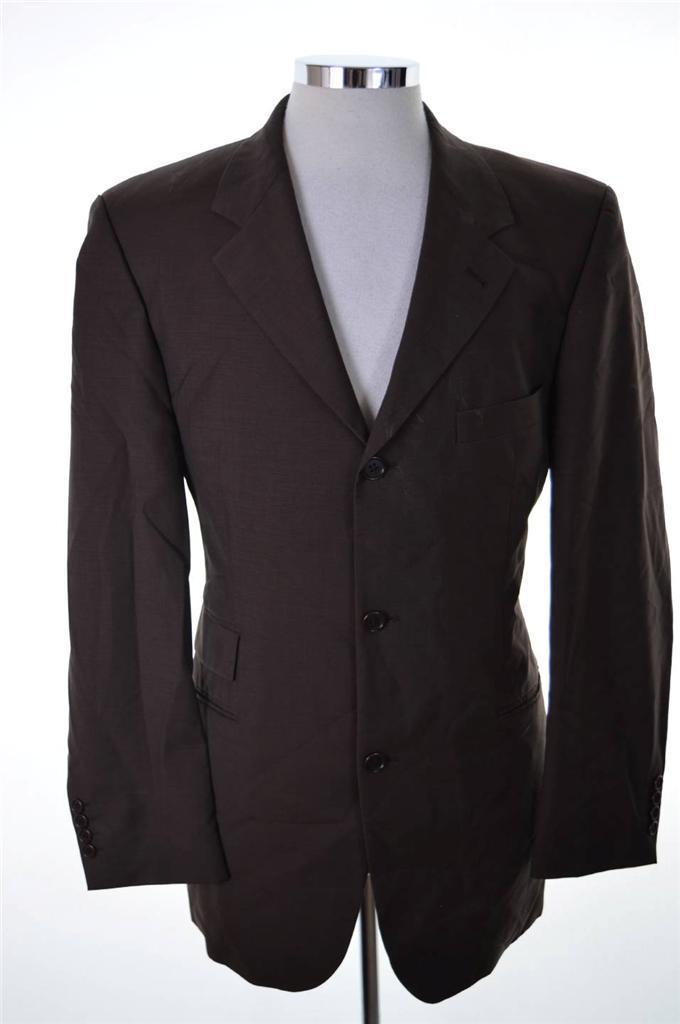 "Hugo Boss Mens Blazer Jacket Size 42"" Large Brown Wool Rayon - Second Hand & Vintage Designer Clothing - Messina Hembry"